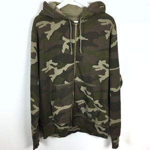 🆕 LEVI'S CAMO Camouflage Zip Up Hoodie Xtra Long